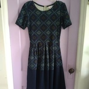 Lularoe Geometric Pattern Amelia Dress